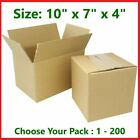 10x7x4 Cardboard Packing Mailing Gift Moving Shipping Boxes Corrugated Carton