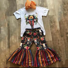 US Toddler Kids Baby Girl Flower Tops Shirt Pants Leggings Outfit Clothes Summer