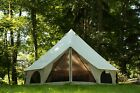Premium Luxury Avalon Canvas Bell Tent with Stove Jack, Bug mesh for All Season
