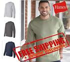 Hanes Mens Blank Cotton Beefy-T Long Sleeve T Shirt 5186 up to 3XL image