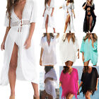 Women Bikini Cover Up Kaftan Tunic Shirt Dress Kimono Sarong Beachwear Swimwear