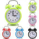 Super Loud Double Bell Alarm Clock With Night Light Bedside Bedroom Decor Gift