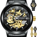 Skeleton Dial Automatic Mechanical Watch Men's Stainless Steel Band Wrist Watch/ image