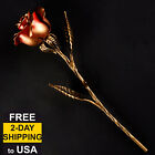 Hand Forged Red Iron Rose - Romantic 6th Anniversary Gift - Metal Flower