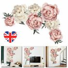 Removable Blossom Peony Flowers Wall Sticker Art Mural Decal Diy Home Decor Uk!