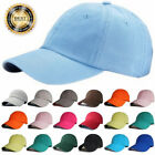 Plain Solid Ball Cap Washed Cotton Polo Style Baseball Caps Hat Adjustable LOT