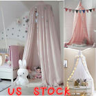 US Kids Baby Princess Bed Canopy Bedcover Mosquito Net Curtain Bedding Dome Tent image