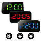 Large 5 Screen LED Digital Alarm Snooze Clock Voice Control Time Display USB