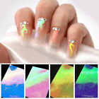 16 Patterns/Sheet Nail Vinyls Holographic Hollow Stencil Stickers Mixed Patterns