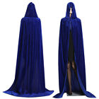 Medieval Witchcraft Halloween Cosplay Witch Devil Velvet Hooded Cloak Cape Robe