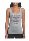 Womans Gildan Tank Top Christian Saved By Grace Or Judged In sins Choose