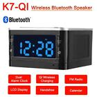 Wireless Charging Phone Charger Bluetooth Speaker LED Dual Alarm Clock FM Radio