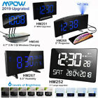Mpow Projection Alarm Clock FM Radio Dual Alarms 5'' LED Curved-Screen SNOOZE