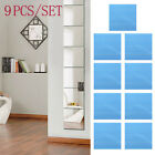 1/9pcs Squre Mirror Tile Wall Stickers Mosaic Room Makeup Decor 3d Adhesive Ca