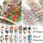 10Pcs Halloween Xmas Nail Foils  Sky Nail Art Transfer Polish Stickers DIY