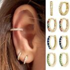 Chic Women 18K Gold Filled Cartilage Ear Studs Hoop Earrings Dangle Drop Jewelry image