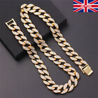 Mens Iced Out Diamond Thick Miami Cuban Link Chain Necklace Jewelry Plat UK