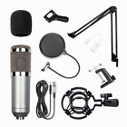 BM-800 Condenser Microphone Kit Studio Pop Filter Boom Scissor Arm Stand Mount