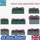 Garden Planter Flower Baskets Pots Plant Stand Container Trough Tub Galvanised