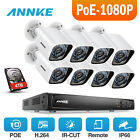 ANNKE 8CH / 4CH 6MP NVR POE 4/8 1080P Outdoor IP CCTV Security Camera System HDD