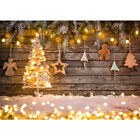 Christmas Bauble Backdrop Abstract Balls Snowflakes Wood Plank Theme Background