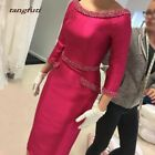Plus Size 6-30 Mother Of the Bride Dresses Wedding Guest 3/4 Sleeves Tea Length