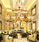 LED Genuine Jade Zinc alloy LivingRoom Chandelier Restaurant Candle CeilingLight