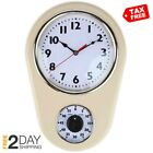 Retro Kitchen Timer Wall Clock. by Lily's Home Ivory