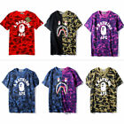 Men's Bape t Shirt Camo A Bathing Ape Tee Shirt US Size image