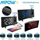 Projection Alarm Clock, 5'' Dimmable LED Curved Screen, Adjustable Sleep Dimmer