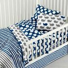 Land of Nod Make a Splash Baby Kids Bedding Crib Toddler Whale White Blue NWT