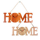 Wooden Hemp Rope Wall Clock HOME Clock Household Bedroom Hanging Bar Decor Gift