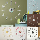 3D DIY Large Wall Clock Stickers Frame-less Modern Decorative Clock