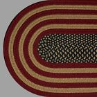 RUSTIC AMERICANA Braided Patriotic Area Rug FARMHOUSE PRIMITIVE - MADE IN USA