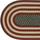 ANTIQUE AMERICANA Braided Patriotic Area Rug FARMHOUSE PRIMITIVE - MADE IN USA