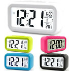 Operated LED Display Smart Digital Alarm Clock Snooze Battery Temperature Decor