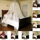 Round Hoop Bed Canopy Mosquito Netting Sheer Mesh Fabric Panel Decor MANY COLORS image