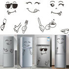1pc Fridge Sticker Happy Delicious Face Wall Decal Dining Room Kitchen Decor