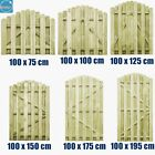 Arched Garden Gate Fence Door Side Panel Entrance Fcs Wood Impregnated Outdoor