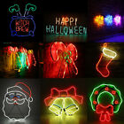 LED Neon Sign Night Light Wall Visual Artwork Bar Lamp Home Xmas Halloween O