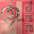 Avon BRAND NEW Verity Necklace HEART PENDANT Sister, Mum, Daughter, Nan