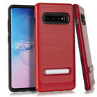 Samsung Galaxy S10 Brushed Case Equipped With Metal Stand Cover