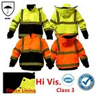 Внешний вид - Hi Vis Waterproof Class 3 Insulated Reflective Bomber Jacket Coat Fleece Lining
