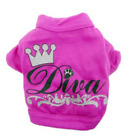 Small Pet Dog Cat Puppy Clothes Vest T Shirt Apparel with Print of Pooch & Diva