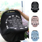 Stretchy Newborn Infant Nursing Cover Multi-Use Baby Car Seat Canopy Cart Cover