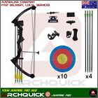 Youth Compound Bow Kits15-20lbs Kids Teenager Junior Target Hunting Black Camo
