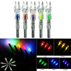 6Pcs Archery LED Lighted Arrow Nocks Tail DIY 5.3mm Arrow Shaft End Accessory