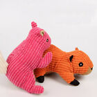 Lovely Plush Squirrel Shape Pet Squeaky Toy Puppy Dog Chewing Toy Pet Supply UK