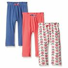 Touched By Nature Girl Organic Cotton Pants, 3-Pack, Flower image