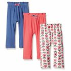 Touched By Nature Girl Organic Cotton Pants, 3-Pack, Flower